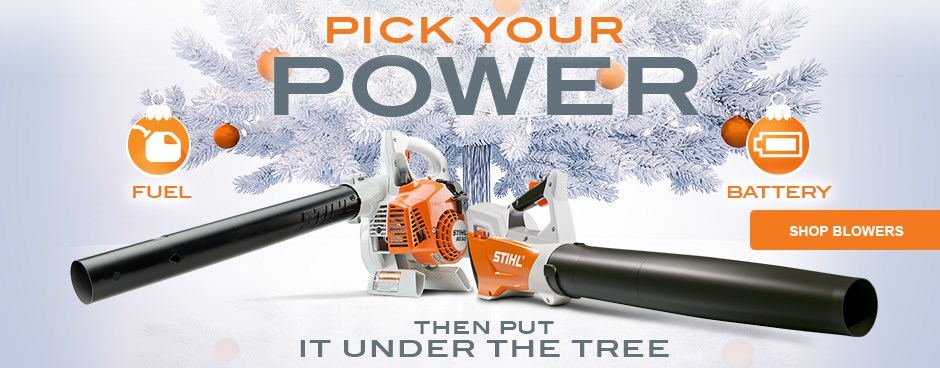 Pick Your Power - Shop Blowers
